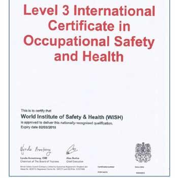 OSHA Certified Trainer Certificate - WISH