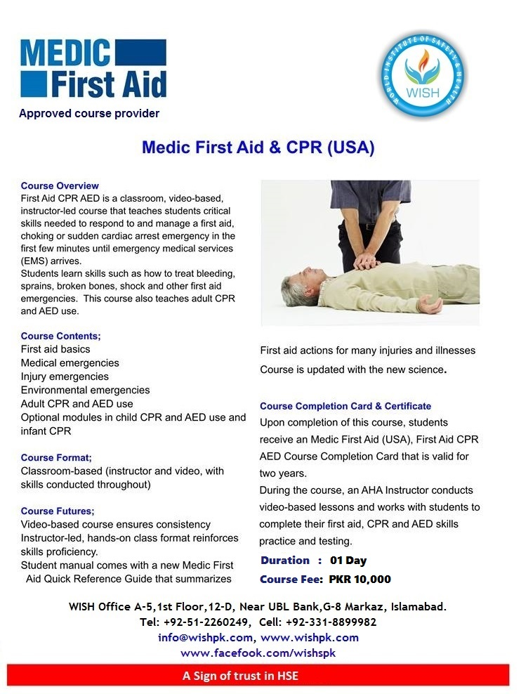 Medic First Aid Usa Nebosh Iosh Osha Medic First Aid Safety Course